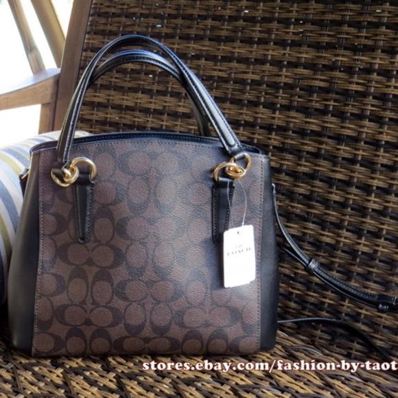 616d7c918d77c Coach Signature Minetta Crossbody Bag Brown Black